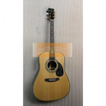 Chinese Factory Custom Martin D45 Deluxe Abalone Inlay Guitar(New Type)