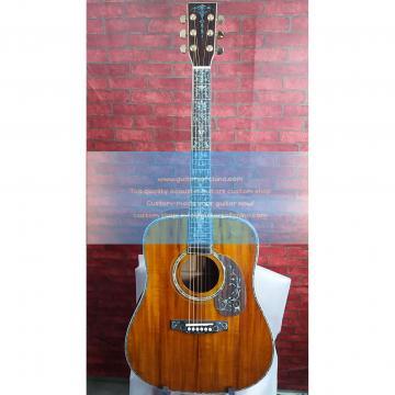 Custom koa Martin D45 acoustic-electric guitar fancy abalone inlay