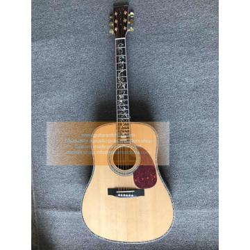 Custom Best Acoustic D-45 martin guitar Vine Inlays Acoustic Guitar(Top quality)