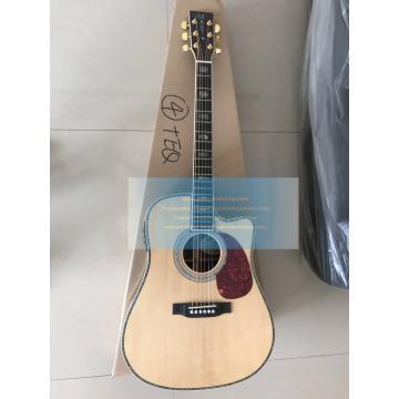 Solid Spruce acoustic Top D-45 martin guitar Dreadnought Cutaway Guitar