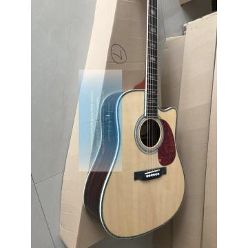Custom Martin D-45 cutaway acoustic-electric guitar natural