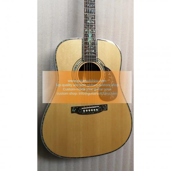 Chinese Custom Martin D45 Deluxe Abalone Inlay Guitar #3 image
