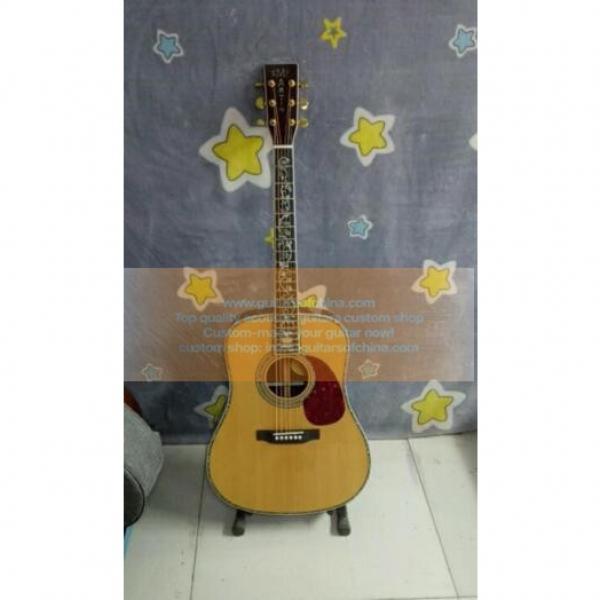 Custom acoustic guitar Tree Of Life Inlay Martin D 45 Dreadnought Guitar #1 image