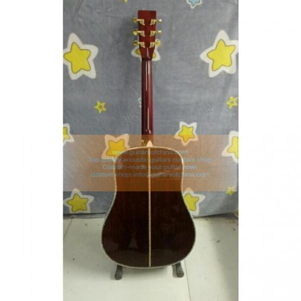 Custom acoustic guitar Tree Of Life Inlay Martin D 45 Dreadnought Guitar #2 image