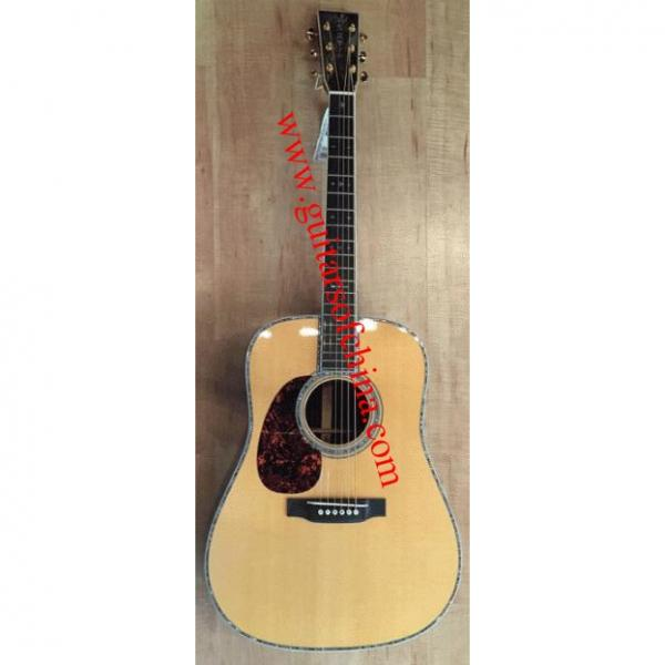 Custom Solid martin D45 Lefty acoustic electric guitar #1 image