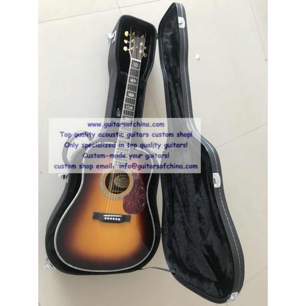 Custom Solid Wood Martin D-45 Acoustic Guitar Sunburst #1 image
