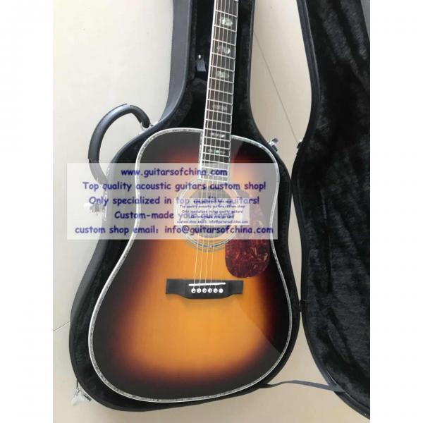 Custom Solid Wood Martin D-45 Acoustic Guitar Sunburst #3 image