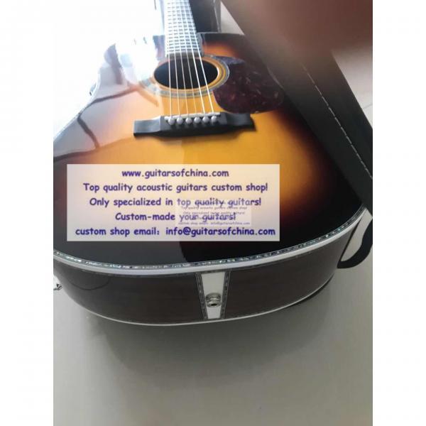 Custom Solid Wood Martin D-45 Acoustic Guitar Sunburst #4 image