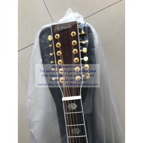 Sale custom 12 string Martin d45 acoustic-electric guitar #3 image