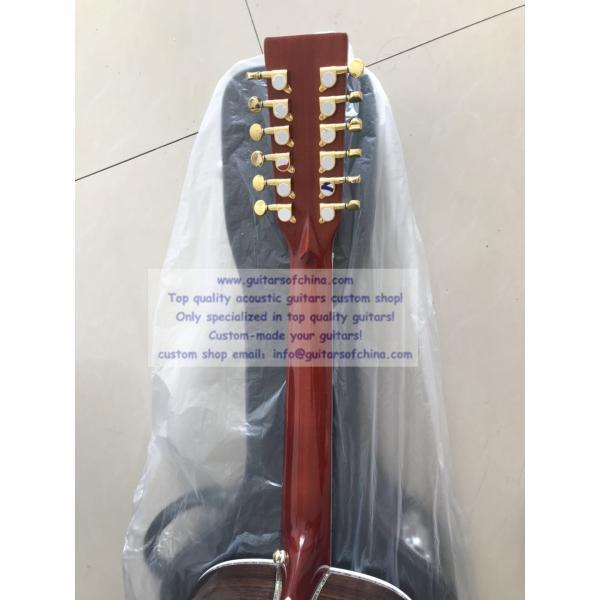 Sale custom 12 string Martin d45 acoustic-electric guitar #4 image