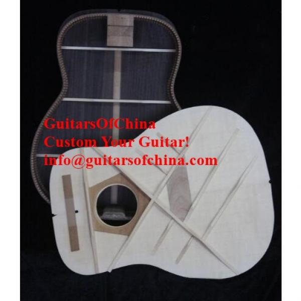 Custom Solid Wood Martin D-45 Acoustic Guitar Sunburst #5 image