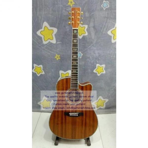 Custom Martin D45 KOA Dreadnought Cutaway Guitar #1 image