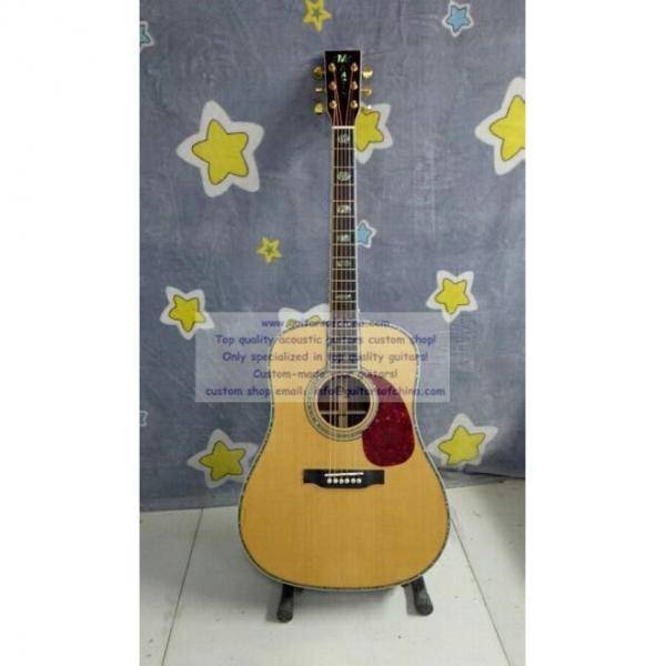Custom solid martin copy guitar d-45 standard series #1 image