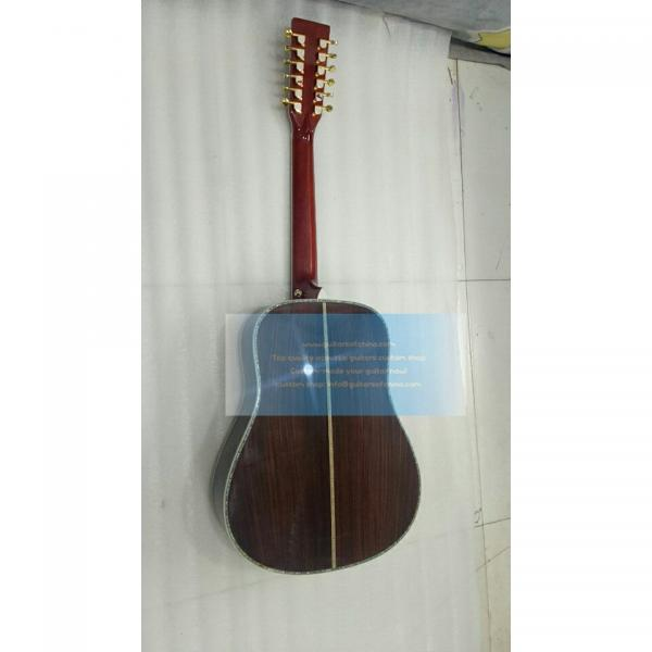 Custom solid wood Martin d45 12 string acoustic guitar #2 image