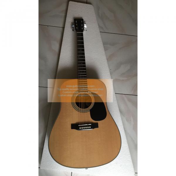 Sale Custom Martin D-28 Natural Acoustic-Electric Guitar #1 image