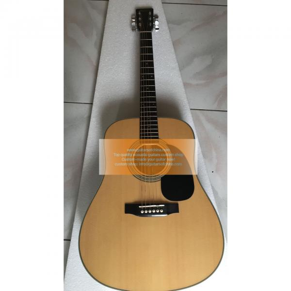 Custom Martin D28 dreadnought standard series guitar natural #1 image