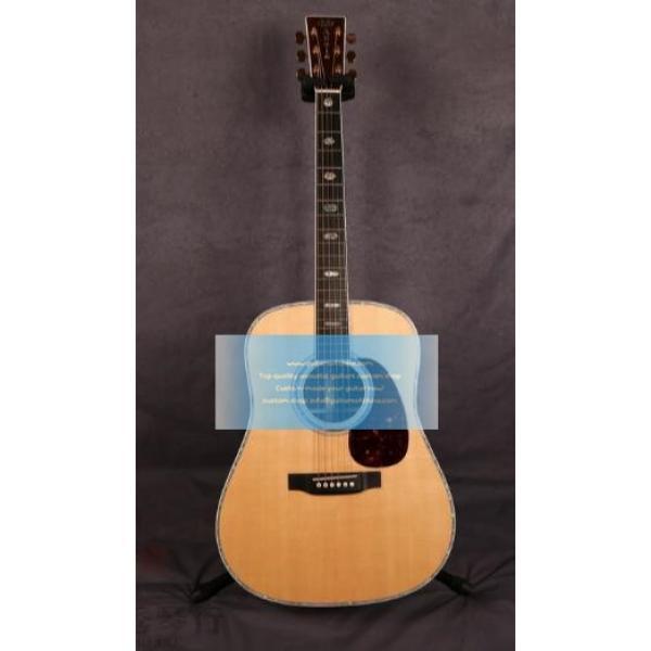 Sale Custom Solid Martin D-41 Guitar Natural #1 image