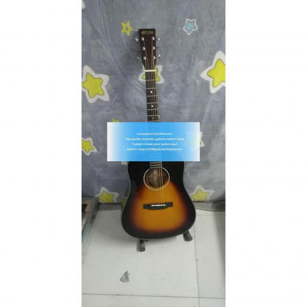 Custom Solid Martin D-18 D 18 Acoustic Sunburst Guitar #1 image