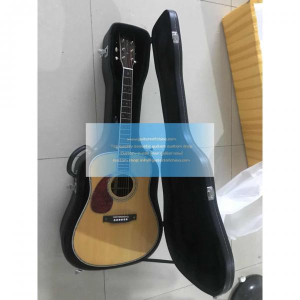 Custom lefty dreadnought acoustic electric Martin D-42 guitar #1 image