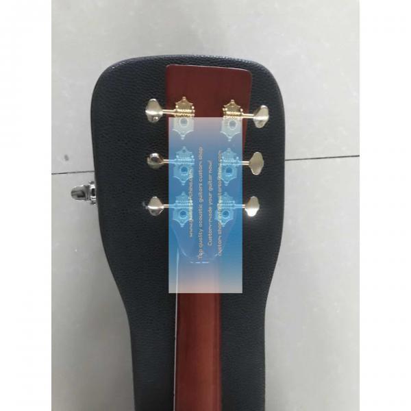 Custom lefty dreadnought acoustic electric Martin D-42 guitar #2 image