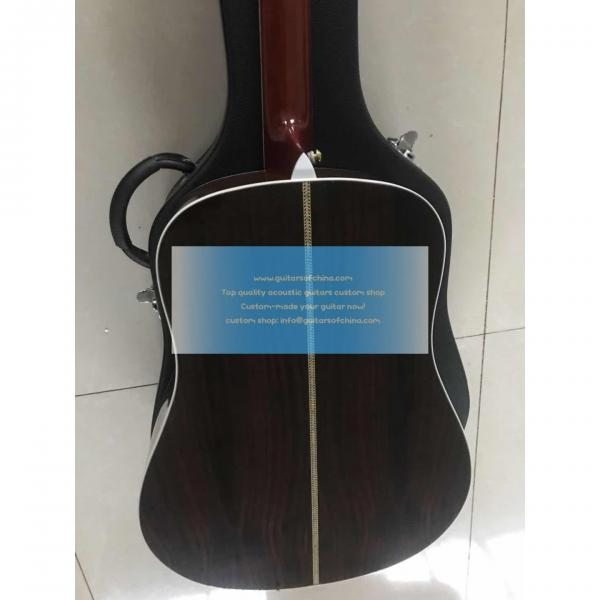 Custom lefty dreadnought acoustic electric Martin D-42 guitar #3 image