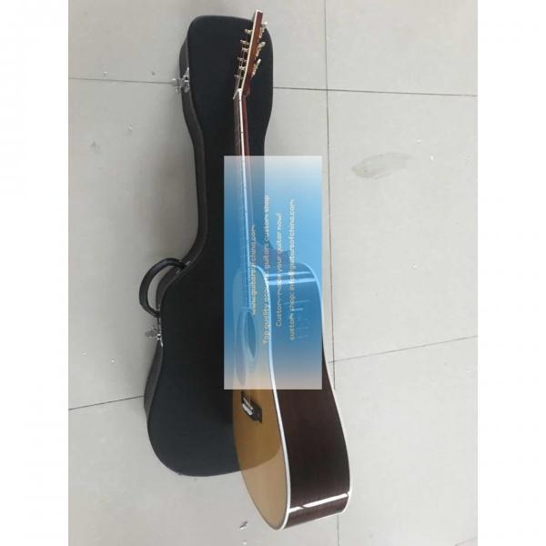 Custom lefty dreadnought acoustic electric Martin D-42 guitar #4 image