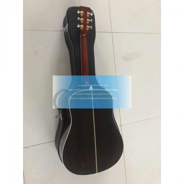 Custom lefty dreadnought acoustic electric Martin D-42 guitar #5 image