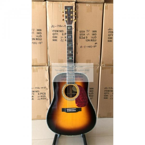 Custom Sunburst Martin D-45 ss Dreadnought Guitar All Solid Wood  #1 image