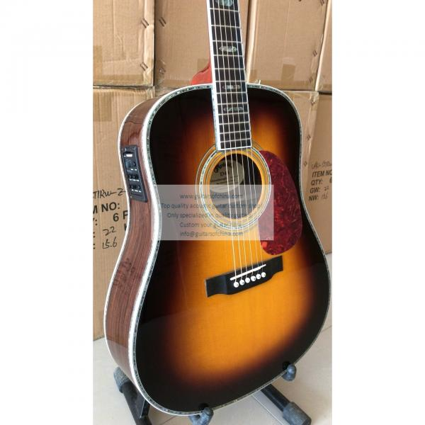 Custom Sunburst Martin D-45 ss Dreadnought Guitar All Solid Wood  #3 image