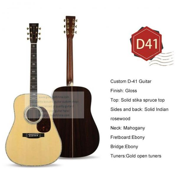 Custom best acoustic electric guitar Martin D-41 guitar for sale #1 image