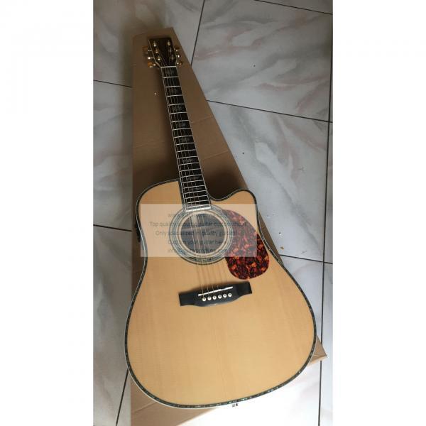 Custom Martin D-45 cutaway acoustic-electric guitar natural #1 image