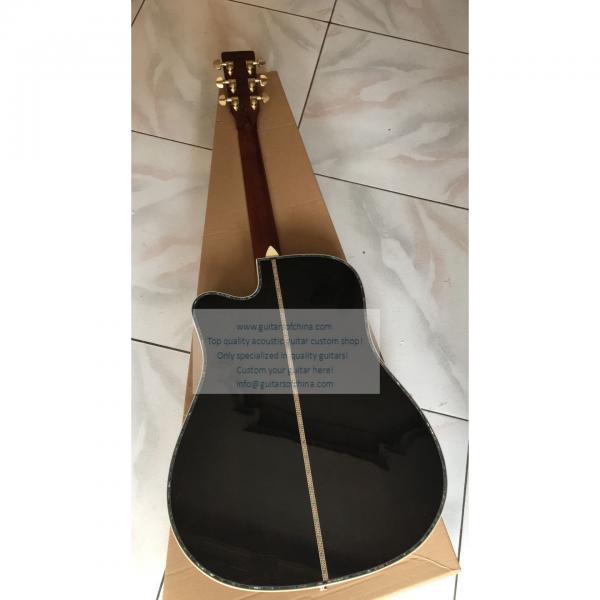 Custom Martin D-45 cutaway acoustic-electric guitar natural #3 image