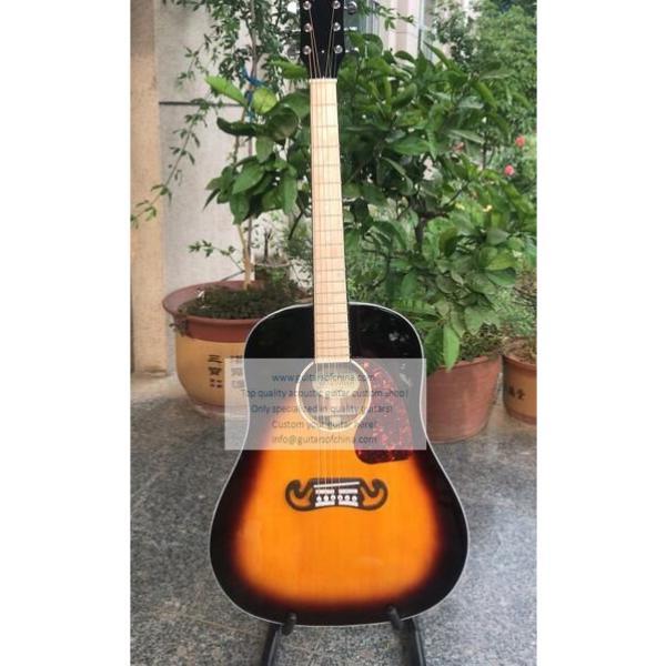 Sale custom Chibson j-45 acoustic guitar sunburst #1 image