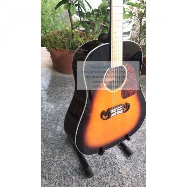 Sale custom Chibson j-45 acoustic guitar sunburst #2 image