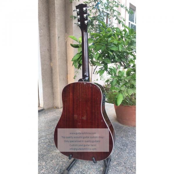 Sale custom Chibson j-45 acoustic guitar sunburst #4 image
