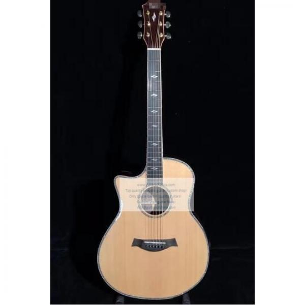 Custom Lefty Chtaylor 814ce Grand Auditorium Acoustic Electric Guitar #1 image